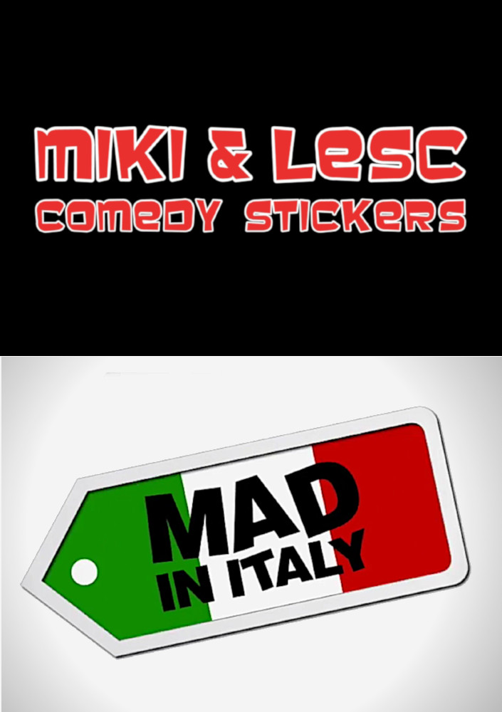 Comedy Stickers - Mad in Italy